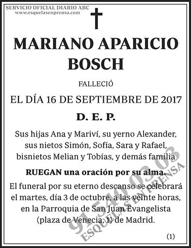 Mariano Aparicio Bosch